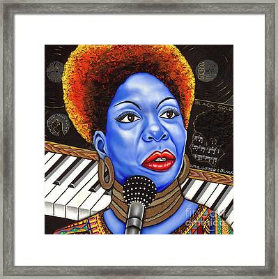 A Part Of Nina Simone Framed Print by Nannette Harris