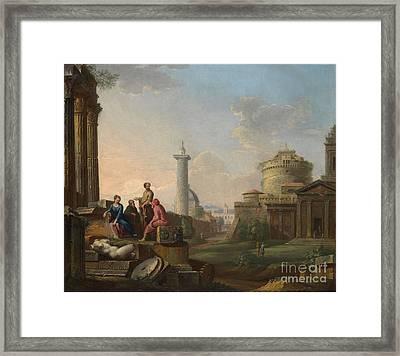 A Roman Capriccio Framed Print