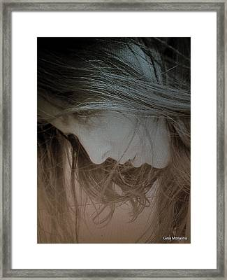 A Self Portrait Framed Print by Gina Monalina