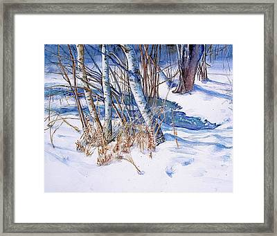 A Snowy Knoll Framed Print by June Conte  Pryor
