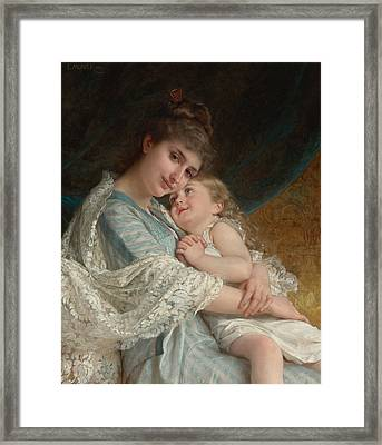 A Tender Embrace Framed Print