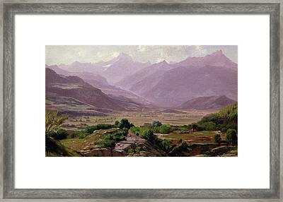 A Valley At Dawn Framed Print by Antoine Chintreuil