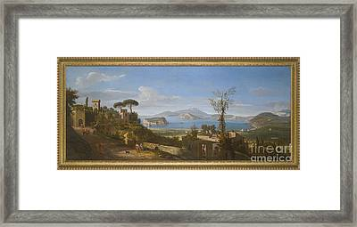 A View Of The Bay Of Pozzuoli, Near Framed Print by MotionAge Designs