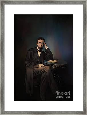 Abraham Lincoln Framed Print by Andrzej Szczerski
