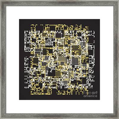 Abstract Digital Scan Code  Framed Print