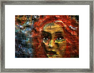 Abstract Woman Framed Print by Patricia Motley