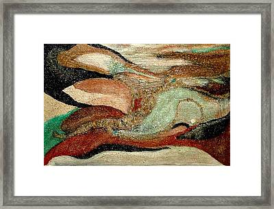 Framed Print featuring the painting  Abstract-wonders Of The Sea by Sherri  Of Palm Springs