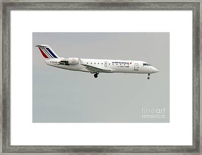 Air France By Britair Canadair- Msn 7321- F-grjq  Framed Print