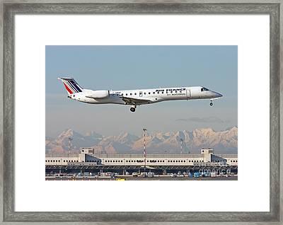 Air France Regional Airlines Embraer Erj-145eu - F-grgf  Framed Print