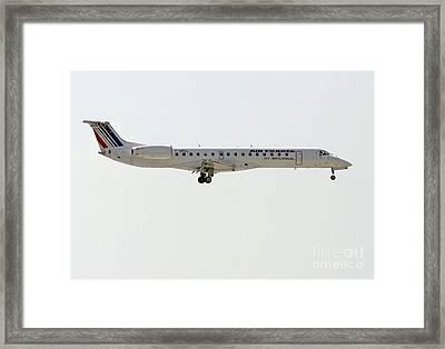 Air France Regional Airlines Embraer Erj-145eu - F-grgl  Framed Print