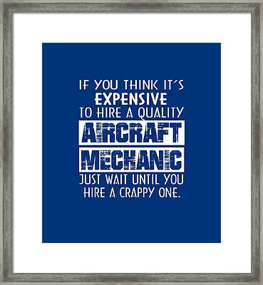 Aircraft Mechanic Framed Print by Sophia