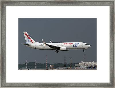 Framed Print featuring the photograph  Aireuropa - Boeing 737-800 - Ec-jbk  by Amos Dor
