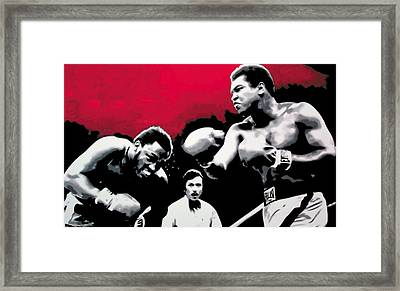 - Ali Vs Fraser - Framed Print by Luis Ludzska