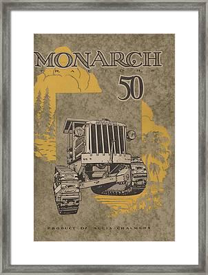Allis Chalmers Monarch Tractor Vintage Poster Framed Print