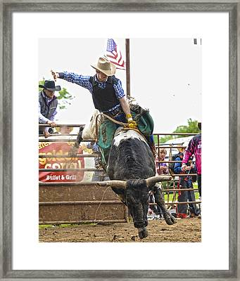 American Cowboy Framed Print by Ron  McGinnis