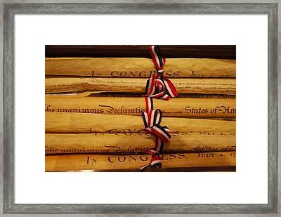 American History Framed Print by Dorota Nowak