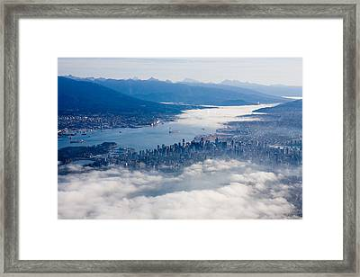 An Aerial View Of Vancouver Framed Print by Taylor S. Kennedy