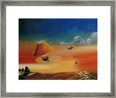 ... And There Was Light. Framed Print by Ingrid Dance