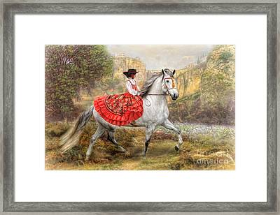 Framed Print featuring the digital art  Andalusia by Trudi Simmonds