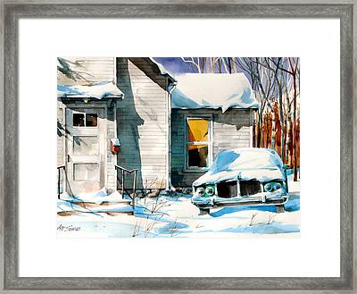 Another Snow Day Framed Print by Art Scholz