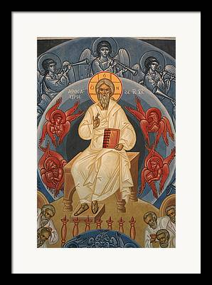 Orthodox Icon Drawings Framed Prints