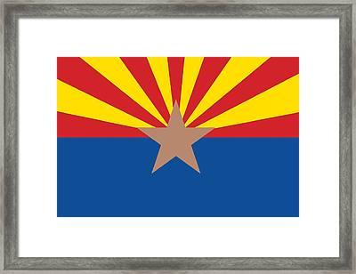 Arizona State Flag Framed Print by American School