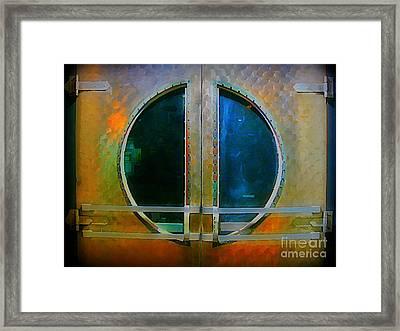 Art Deco Door In Halifax Nova Scotia Framed Print