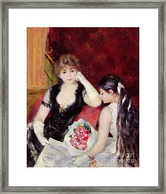 At The Concert Framed Print by Pierre Auguste Renoir