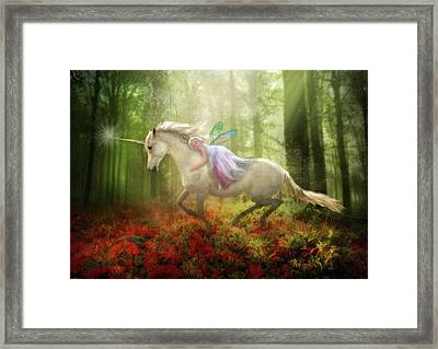 Autumns Flight Framed Print