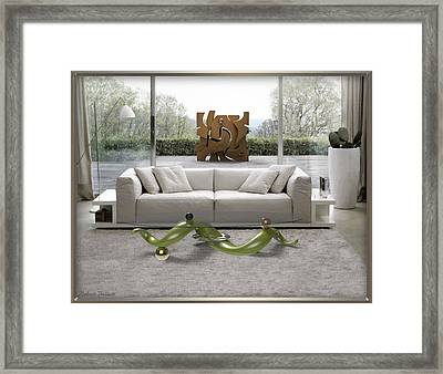 ' Azteca Scape ' And 'a Twisted Table ' Framed Print