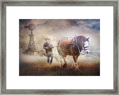 Back To Work Framed Print by Trudi Simmonds