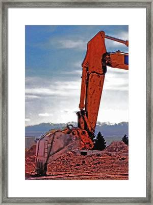 Backhoe 1 Framed Print by Steve Ohlsen