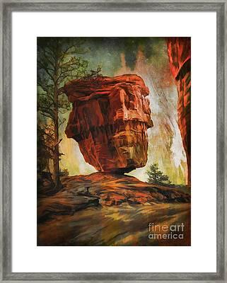 Balanced Rock  Framed Print by Andrzej Szczerski