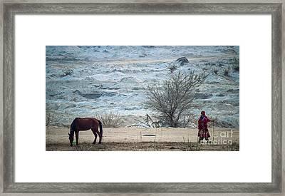 Balochi Shepherd In Pakistan Framed Print by Akhtar H Khan
