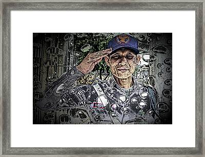 Bank Security Officer - On A Rainy Day Framed Print