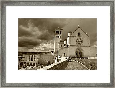Basilica Of San Francesco Framed Print by John Hix