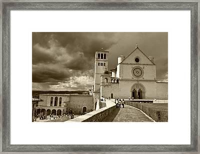 Framed Print featuring the photograph  Basilica Of San Francesco by John Hix