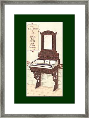 Bathroom Picture Wash Stand Two Framed Print by Eric Kempson