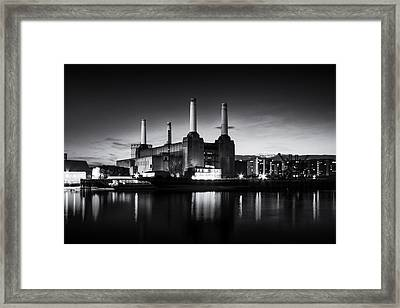 Battersea Power Station In Monochrome Framed Print