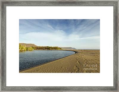 Beach In Costa Rica Framed Print