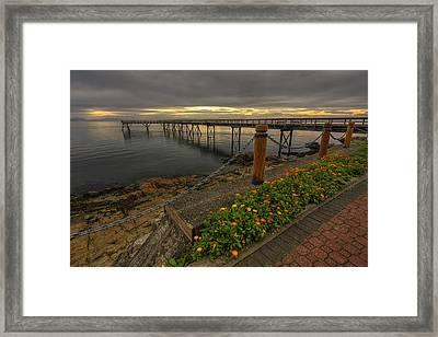 Bevan Fishing Pier - Sydney Bc Framed Print by Mark Kiver