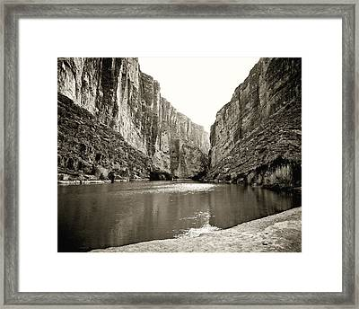 Big Bend National Park And Rio Grand River Framed Print