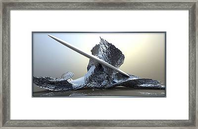 ' Big Blue Wipeout ' Framed Print