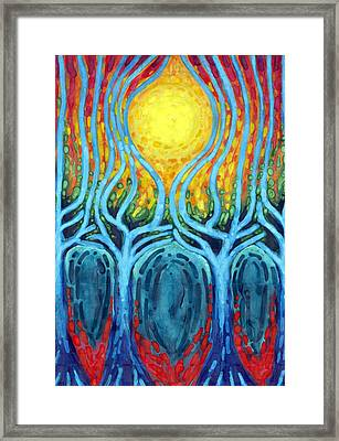 Births Of Day Framed Print by Wojtek Kowalski
