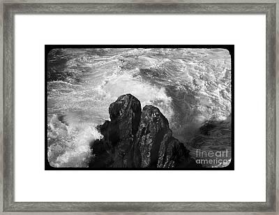 Black And White Sea Framed Print by Stefano Senise