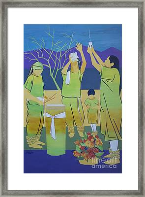 Blessing Sky And Earth Framed Print