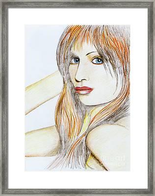 Blue Eyed Tangerine Framed Print