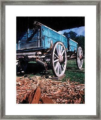 Blue Wagon Framed Print
