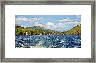 Boat Ride Digital Art Framed Print by Susan Leggett