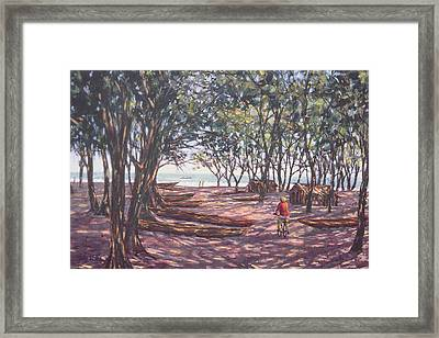 Boat Yard  Kafountine Framed Print by Tilly Willis